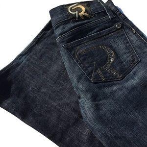 NWOT Rock & Republic flare jeans, rhinestones 23